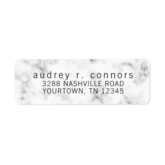 Return Address Labels - Black and White Marble