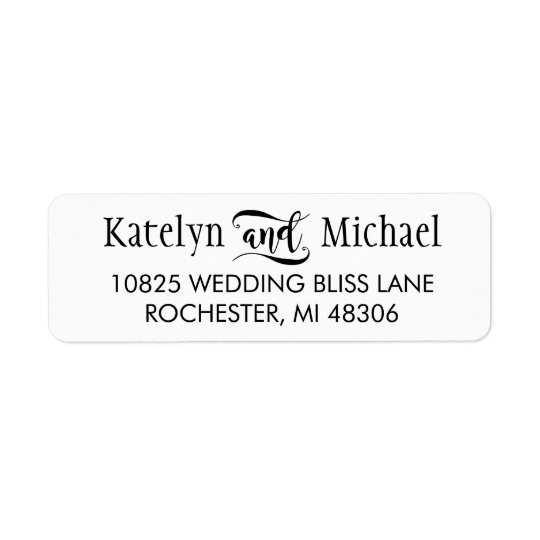 Return Address Labels | Black Script