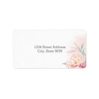 Return Address Labels | Blush and Blooms