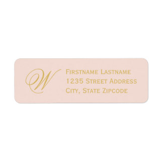 Return Address Labels | Blush Pink + Gold