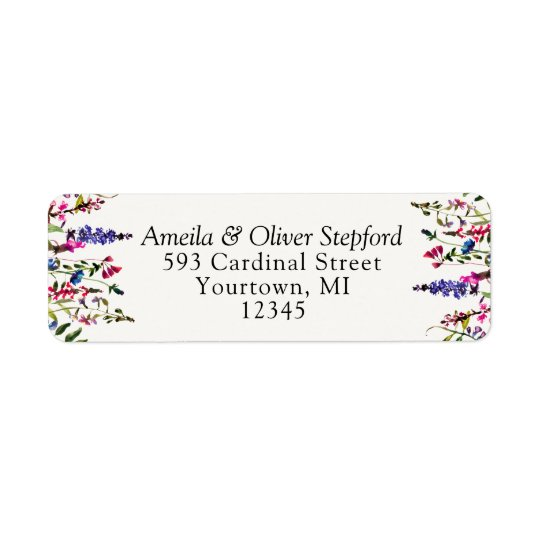 Return Address Labels - Country Wildflowers
