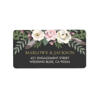 Return Address Labels | Fall Boho Florals