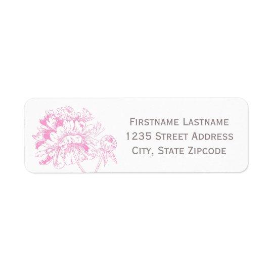 Return Address Labels | Fuchsia Peony Design