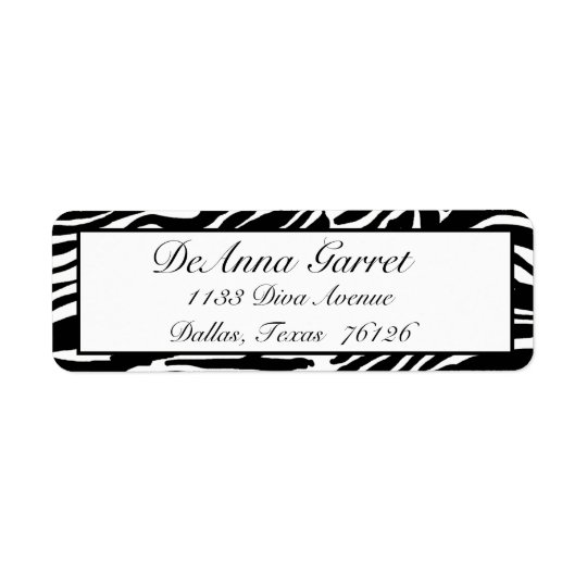 Return Address Labels Gone Wild (Zebra Print)