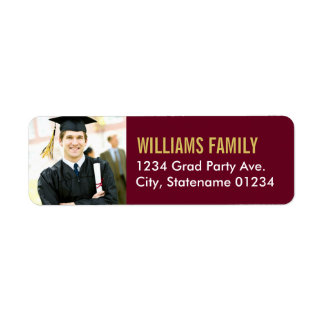 Return Address Labels | Graduation Photo Design