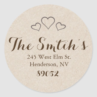Return Address Labels - Hearts