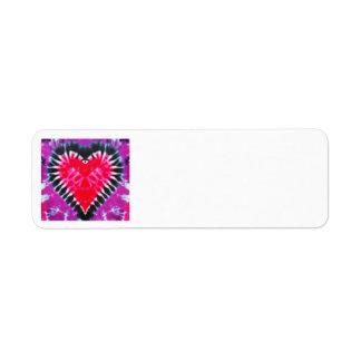 Return address labels Pink Heart ORIGINAL