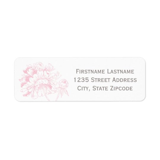 Return Address Labels | Pink Peony Design