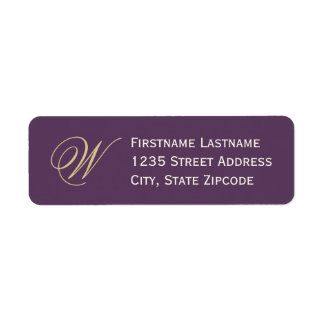 Return Address Labels | Purple, Champagne, Ivory