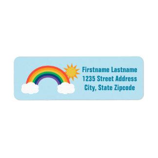 Return Address Labels | Rainbow Design