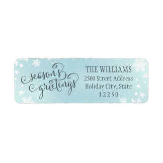 Return Address Labels   Season's Greetings