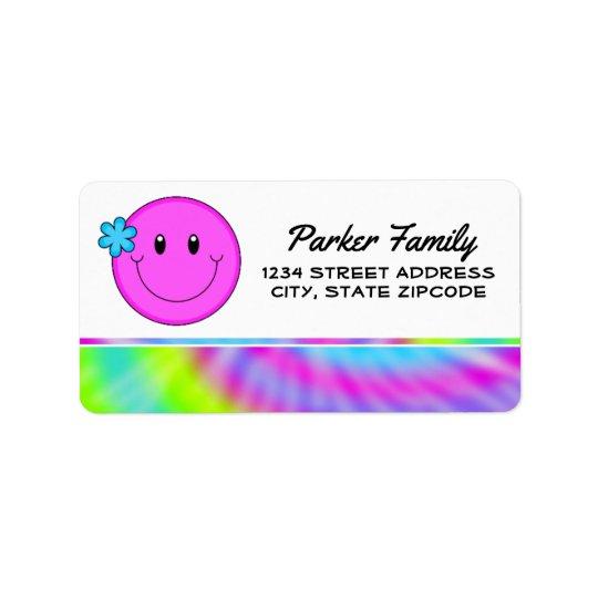 Return Address Labels │ Smiley Face Tie Dye