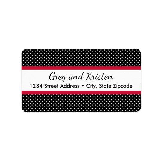 Return Address Labels │ Tiny Dots Black & Red