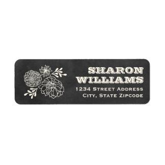 Return Address Labels Vintage Chalkboard Style