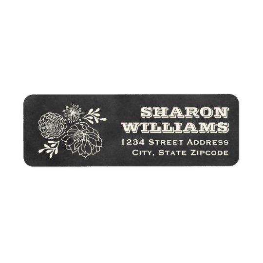 Return Address Labels | Vintage Chalkboard Style