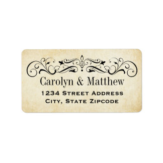 Return Address Labels | Vintage Flourish