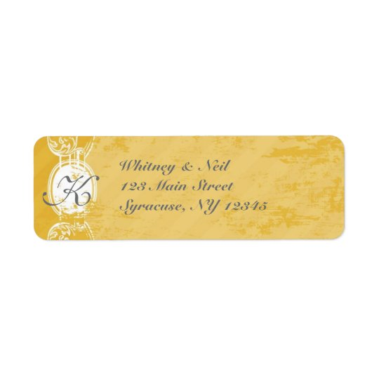 Return Address Labels Vintage Grunge Collection