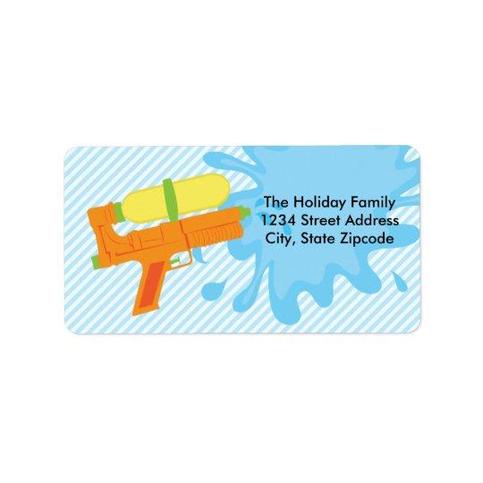 Return Address Labels │ Water Gun Orange
