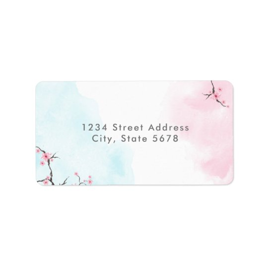 Return Address Labels | Watercolor Cherry Blossoms