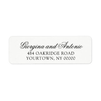 Return Address Labels Wedding Classic Elegant