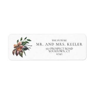Return Address Labels Wedding Future Mr Mrs Floral