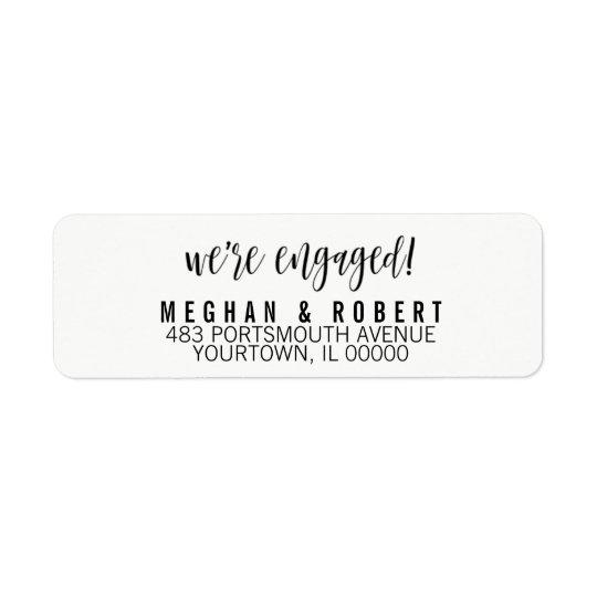 Return Address Labels We're Engaged Engagement