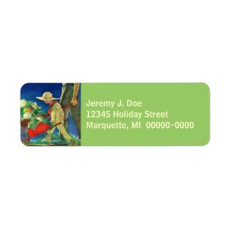 Return Address Organic Gardening Garden Family Return Address Label