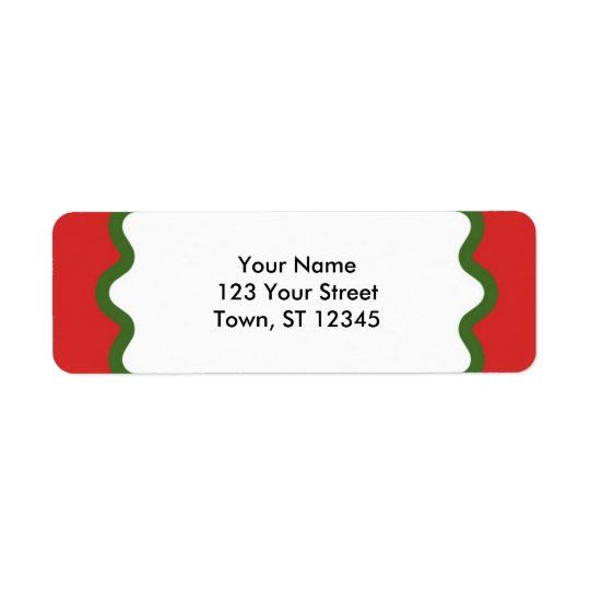 Return Address - Red and Green