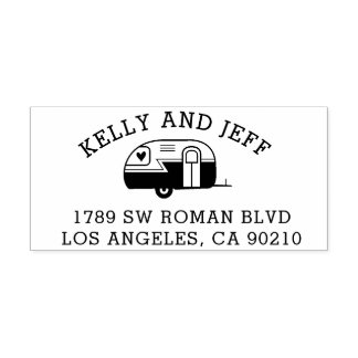 Return Address Stamp, camper address stamp