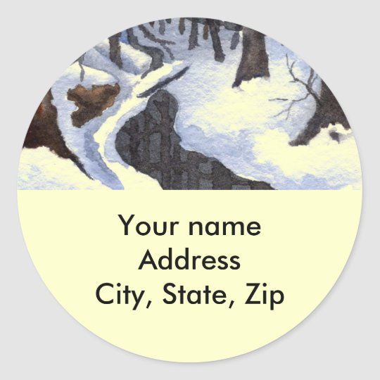 Return Address Sticker
