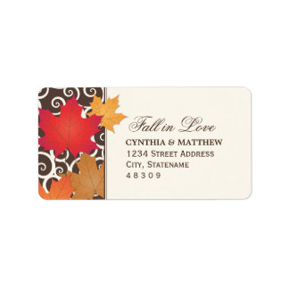 Return Address Sticker | Autumn Fall in Love Theme
