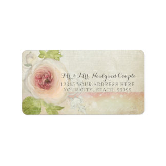 Return Address Vintage Peony Blossom Flower Pretty