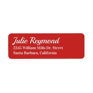 return address vivid red