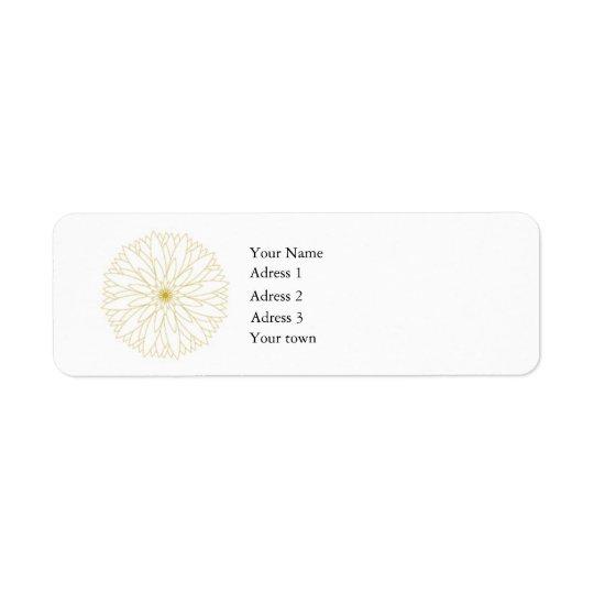Return Adress Label Complete, white, 0,75x2,25 Return Address Label