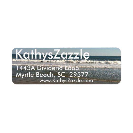 Return Mailing Address Labels, Ocean View Return Address Label