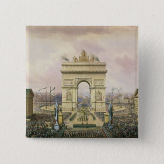 Return of the Ashes of the Emperor to Paris 2 Inch Square Button