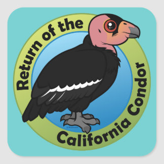 Return of the California Condor Square Sticker
