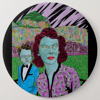RETURN OF THE GREEN LADY 6 INCH ROUND BUTTON