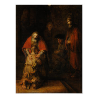 Return of the Prodigal Son by Rembrandt van Rijn Perfect Poster