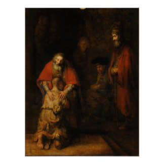 Return of the Prodigal Son by Rembrandt van Rijn Posters