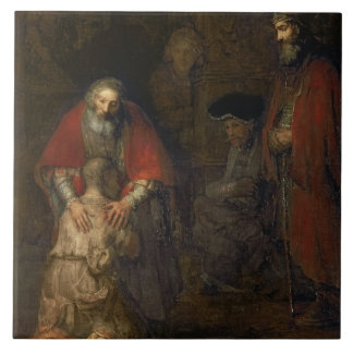 Return of the Prodigal Son, c.1668-69 Tile