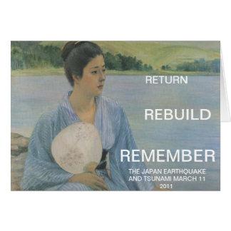 RETURN REBUILD REMEMBER GREETING CARD