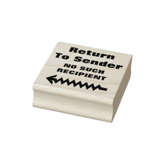 """Return To Sender"" ""NO SUCH RECIPIENT"" + Arrow Rubber Stamp"