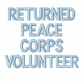 'RETURNED PEACE CORPS VOLUNTEER' EMBROIDERED HOODED SWEATSHIRT