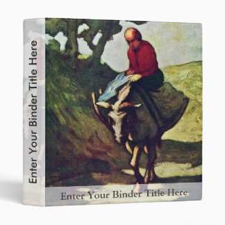 Returning Home From The Market,  By Daumier Honoré 3 Ring Binders