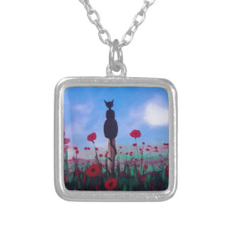 Returning to the Poppies Silver Plated Necklace