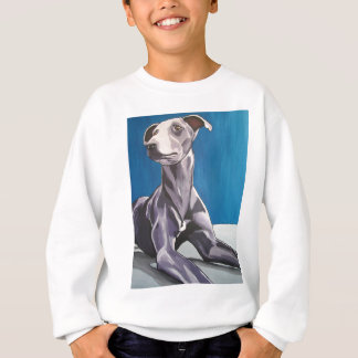 'Reuben Bluedog' - lurcher Sweatshirt