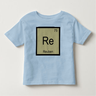 Reuben Name Chemistry Element Periodic Table Toddler T-shirt