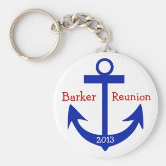 Reunion Anchor - by SRF Basic Round Button Keychain