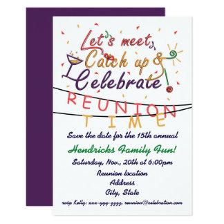 Reunion design for families, school mates, peers card
